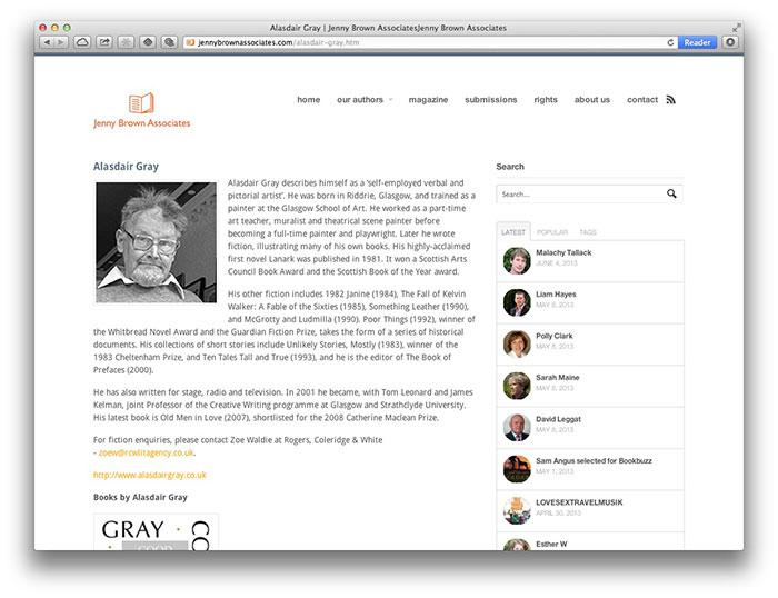 Jenny Brown Associates Alasdair Gray