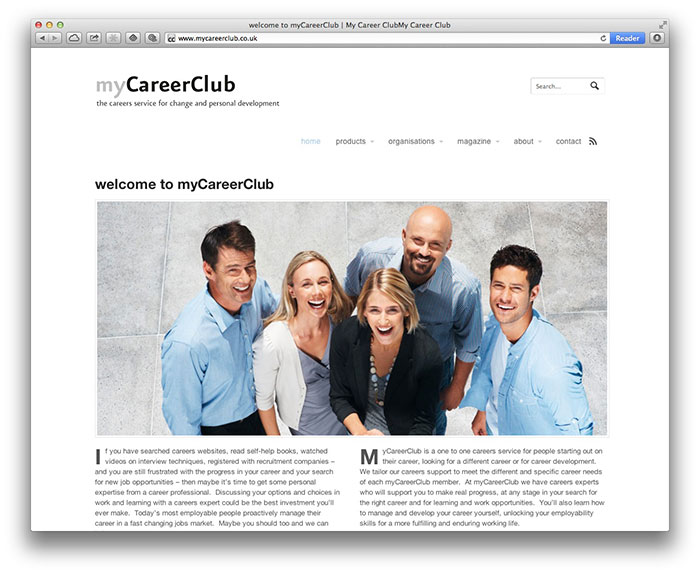 myCareerClub homepage