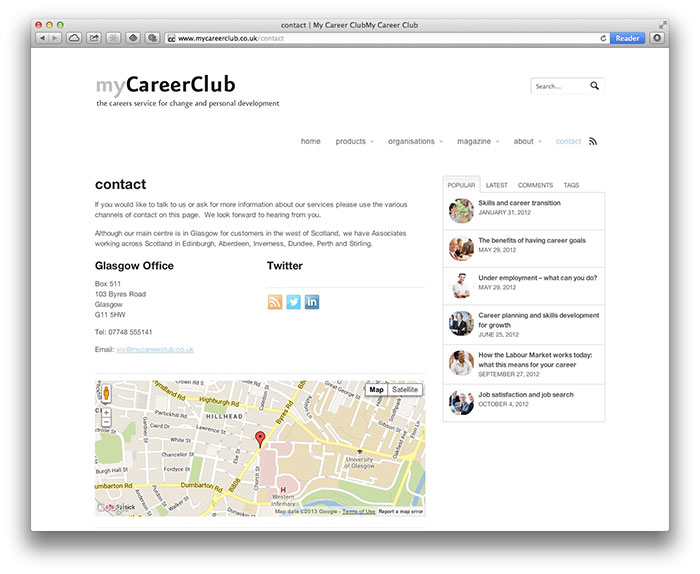 myCareerClub contact