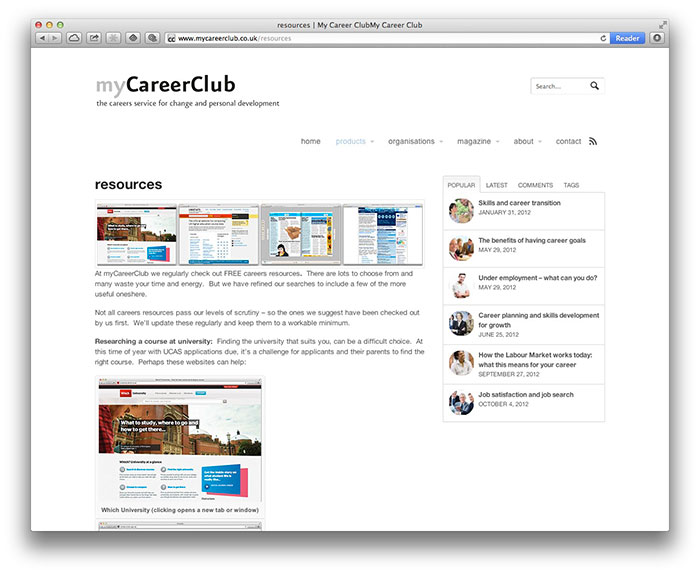 myCareerClub resources